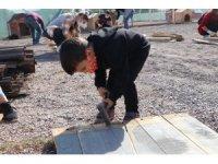 İlçe halkı sokak hayvanları için seferber oldu: 7'den 70'e gönüllü vatandaş kulübe yaptı