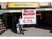 Ekmeği 0,75 kuruştan satan mahalle bakkalı vatandaşları mutlu etti
