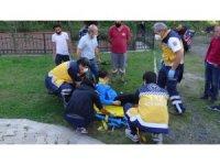 Bisikletli çocuğa otomobil çarptı