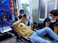 Motosiklet uçuruma yuvarlandı: 2 yaralı