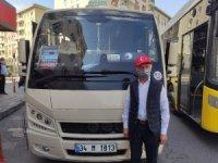Başkan Atila Aydıner'den tebdili kıyafetle minibüslerde pandemi denetimi