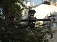 İstiklal Caddesinde drone destekli korona virüs denetimi