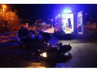 Alkollü sürücü motosiklete arkadan çarptı: 1 yaralı