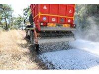 Marmaris'te 50 bin metrekare asfalt serimi yapıldı