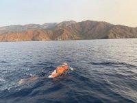 29 kilometrelik mesafeyi 12 saatte yüzdü
