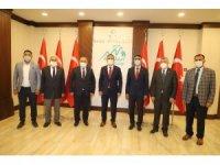 Türkiye Muhtarlar Konfederasyonu heyeti Hakkari'de