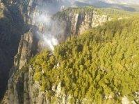 Tazı Kanyonunda orman yangını