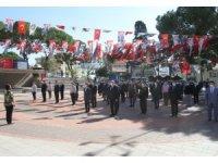 Kuyucak'ta Atatürk anıtına çelenk sunuldu