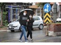 Aydın'da beklenen yağış başladı