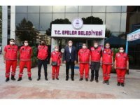 Efeler Belediyesi Arama Kurtarma Ekibi İzmir'e sevk edildi