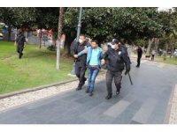Samsun'da bıçaklı saldırgan tehlike saçtı