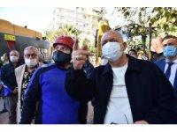 Başkan Ergün enkaz kaldırma çalışmalarını takip etti