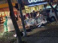 Ataşehir'de çöp konteynerı bomba gibi patladı, polis alarma geçti