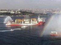 Kanuni sondaj gemisi Karadeniz'e açıldı