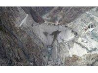 Türkiye'nin en yüksek yüksek barajının tamamlanmasına 25 metre kaldı