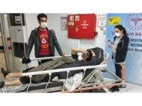 Samsun'da yangında bir kişi hastanelik oldu