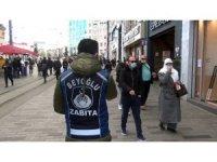 Taksim'de sigara ve maske yasağına uymayanlara ceza