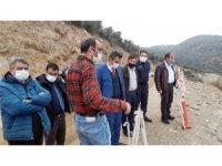 Söke Kaymakamı Soner Zeybek, Sarıçay Barajı İnşaatını gezdi