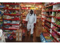 Merkezefendi Belediyesi, bakkal ve marketlerde dezenfekte çalışmaları yaptı