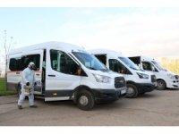 Kocaeli'de günde 60 servis aracı dezenfekte ediliyor