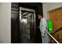 Çiğli'de korona virüsü görülen adresler ilaçlanıyor