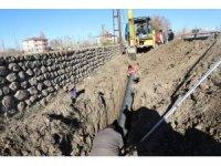 Iğdır'da alt yapı çalışmaları devam ediyor