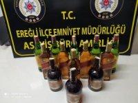 Ereğli'de kaçak içki ele geçirildi