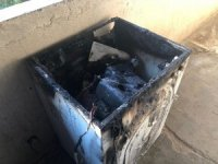 Evi yanan Suriyeli kadının imdadına İHA muhabirleri koştu
