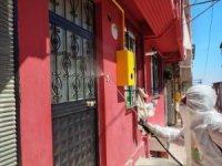 İlkadım Belediyesi korona vakası görülen yerleşim yerlerini dezenfekte ediyor