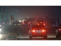 Muş'ta sis etkili oldu