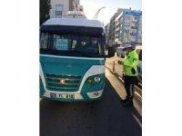 Aliağa'daki toplu taşıma araçlarında korona virüs denetimi