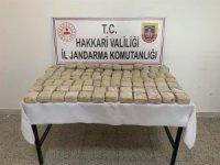 Hakkari'de 50 kilo 852 gram eroin ele geçirildi