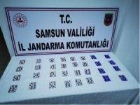 Samsun'da jandarma ekipleri 12 kilo esrar 966 adet sentetik hap ele geçirdi