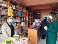 Vali Hüseyin Öner'in eşi Zehra Mine Öner kadın girişimci esnafı ziyaret etti