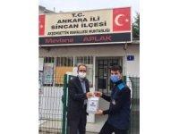 Sincan Belediyesi muhtarlara dezenfektan dağıttı