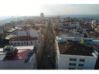 İstiklal Caddesi tedbirlerden sonra havadan görüntülendi