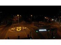 Nevşehir sokağa çıkma kısıtlamasında havadan görüntülendi