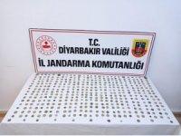 Diyarbakır'da İslami, Osmanlı ve Roma dönemlerine ait 416 gümüş sikke ele geçirildi