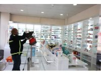 Serdivan'da tüm eczaneler dezenfekte ediliyor