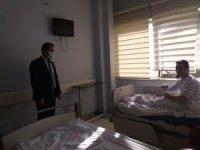 Başhekim Çelik'ten hasta ve personele moral ziyareti