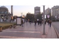 Kayseri'de kısıtlama öncesi meydan ve caddelerde yoğunluk