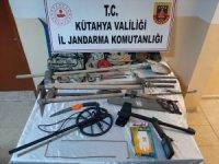 Kütahya'da kaçak kazı operasyonu