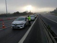 15 Temmuz Şehitler Köprüsü'nde kısıtlama denetimi yapıldı