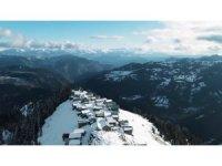 Boselta yaylasında kış güzelliği nefes kesiyor