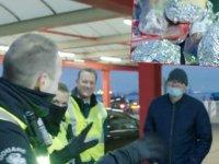 Şoförlere sınırda Brexit şoku: Sandviçlerine bile el koydular