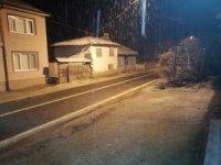 Bilecik'e yılın ilk karı yağdı