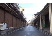 Gaziantep sokaklarında kısıtlama sessizliği