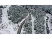 Bursa'da kar yağışı sonrası tablo gibi görüntüler