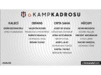 Beşiktaş'ın derbi kamp kadrosu belli oldu
