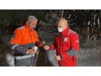 Kızılay -10 derecede görev yapan ekiplerin içini ısıttı